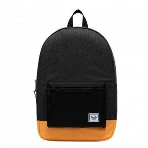 Herschel Supply Co. Settlement Rugzak black crosshatch/black/blazing orange backpack