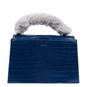 Inyati Olivia Top Handle Bag navy croco Damestas