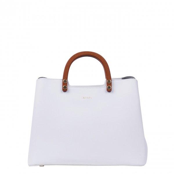 Inyati Summer Stories Inita Top Handle Bag white Damestas