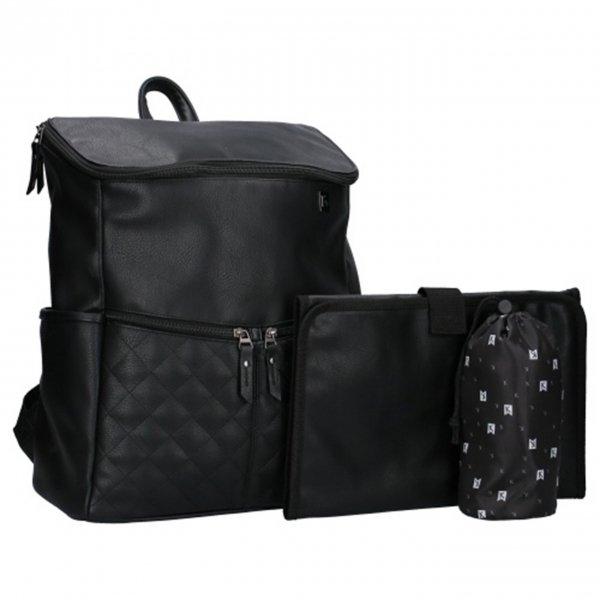 Kidzroom Go Out Diaper Backpack black Damestas van Polyester