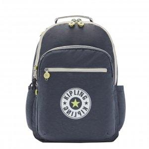 Kipling Seoul Rugzak grey slate block backpack