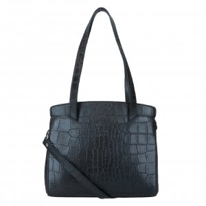LouLou Essentials Bag XS Vintage Croco black Damestas