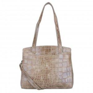 LouLou Essentials Bag XS Vintage Croco taupe Damestas