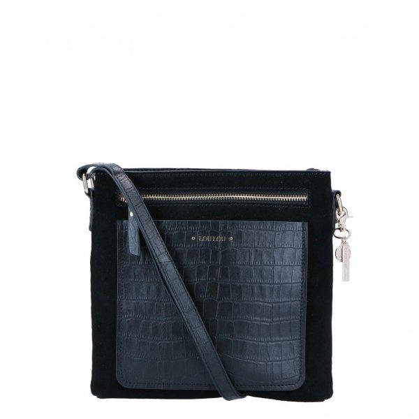 LouLou Essentials Crossbody Classy croco black Damestas