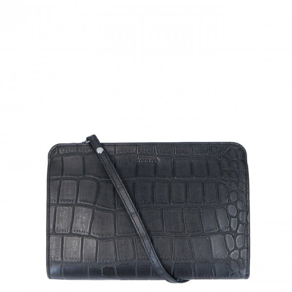 LouLou Essentials Crossbody XS Vintage Croco black Damestas