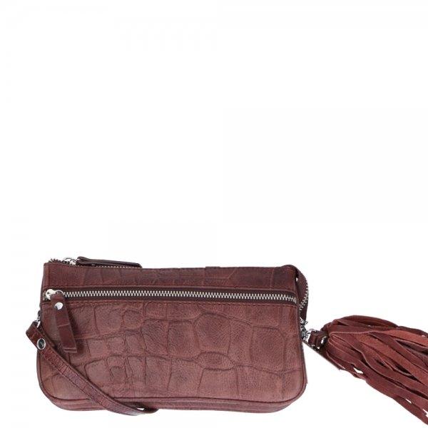 LouLou Essentiels Vintage Croco Shoulderbag S bordeaux Damestas