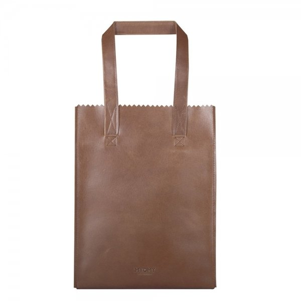 Myomy Paper Bag Long Handle Zip hunter waxy original Damestas