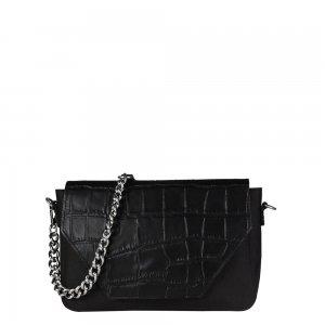 Myomy Treasure Bag Mini croco black & recycled plastic Damestas
