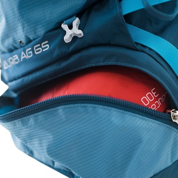 Osprey Aura AG 65 Small Backpack vestal grey backpack van Nylon