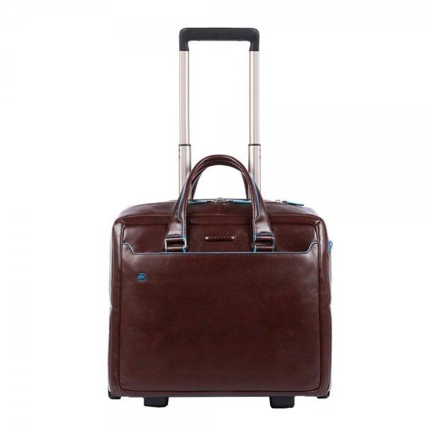 Piquadro Black Square Briefcase with wheels brown Zakelijke koffer
