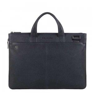 """Piquadro Black Square Small Expandable Computer Bag 15.6"""" night blue"""