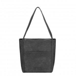 Shabbies Amsterdam Shoulderbag M Nubuck Leather black Damestas