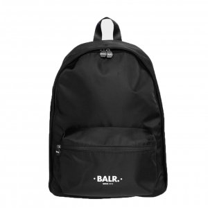 Balr. U-Series Water Resistant Nylon Backpack jet black