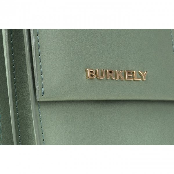 Burkely Parisian Paige Citybag Round light green Damestas van Leer