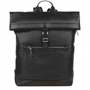 """Burkely Suburb Seth Backpack Rolltop 15.6"""" black backpack"""