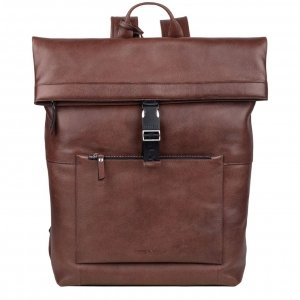 "Burkely Suburb Seth Backpack Rolltop 15.6"" brown backpack"