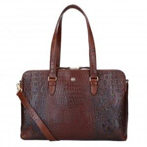 FMME. Charlotte 15.6 Workingbag Croco brown