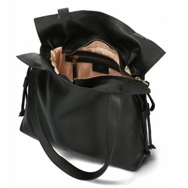 Fred de la Bretoniere Shoulderbag M Soft Grain Leather black Damestas van