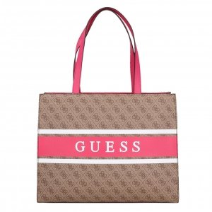 Guess Monique Tote latte/pink Damestas