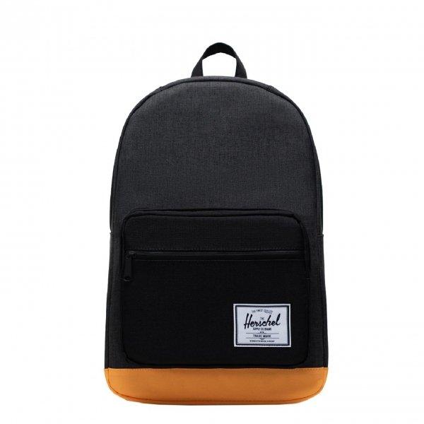 Herschel Supply Co. Pop Quiz Rugzak black crosshatch/black/blazing orange backpack