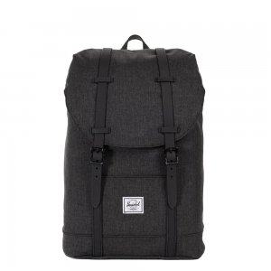 Herschel Supply Co. Retreat Mid-Volume Rugzakblack crosshatch/black rubber backpack