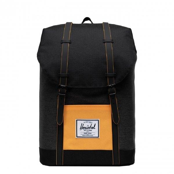 Herschel Supply Co. Retreat Rugzak black crosshatch/black/blazing orange backpack