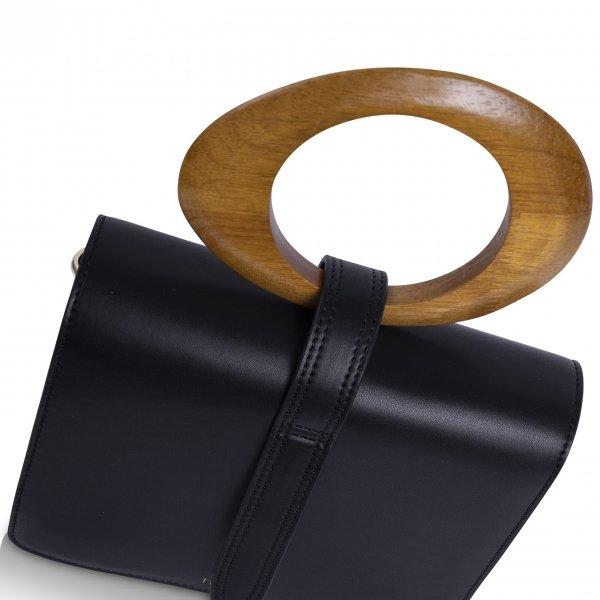 Inyati Abbey Top Handle Bag black Damestas van Vegan leer