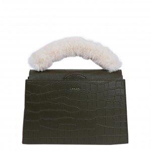 Inyati Olivia Top Handle Bag dark olive croco matt Damestas