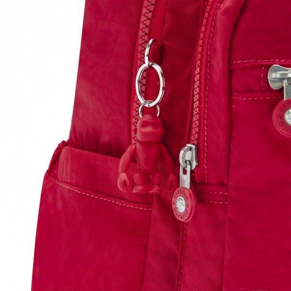 Kipling Seoul Rugzak red rouge backpack van Nylon