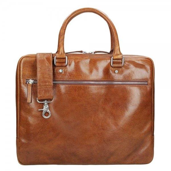 Leonhard Heyden Cambridge 1 Compartment Briefcase S cognac