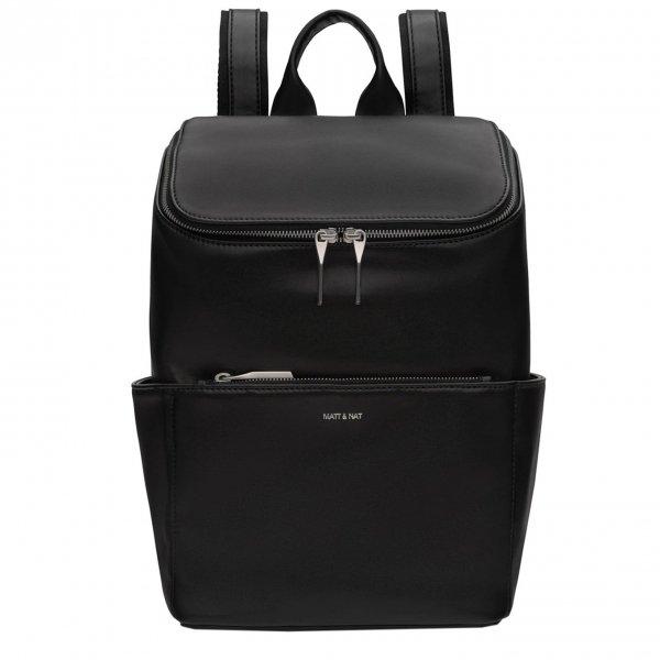 Matt & Nat Loom Backpack black shiny nickel Damestas