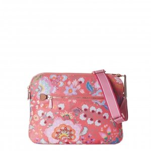 Oilily Aqua Sits Flat Shoulder Bag hot coral Damestas