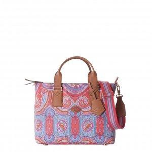 Oilily City Rose Paisley Handbag hot coral Damestas