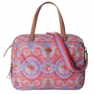 Oilily City Rose Paisley Office Bag hot coral
