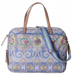 Oilily City Rose Paisley Office Bag riviera