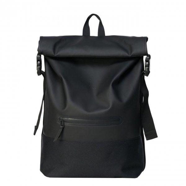 Rains Original Buckle Rolltop black backpack