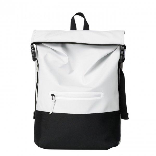 Rains Original Buckle Rolltop off white backpack