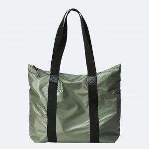 Rains Original Tote Bag Rush shiny olive Damestas