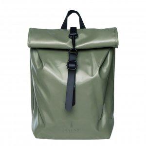 Rains Rolltop Mini shiny olive backpack