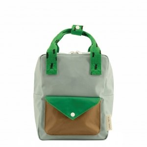Sticky Lemon Sprinkles Envelope Backpack Small apple green steel blue brassy green Kindertas