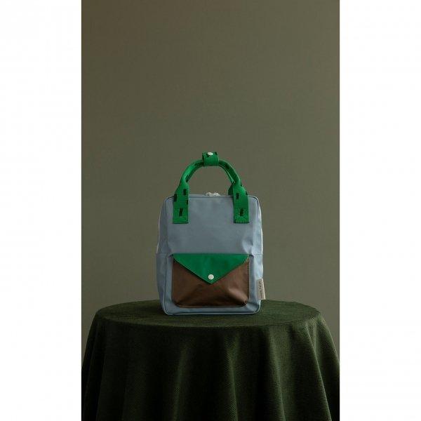 Sticky Lemon Sprinkles Envelope Backpack Small apple green steel blue brassy green Kindertas van Gerecycled