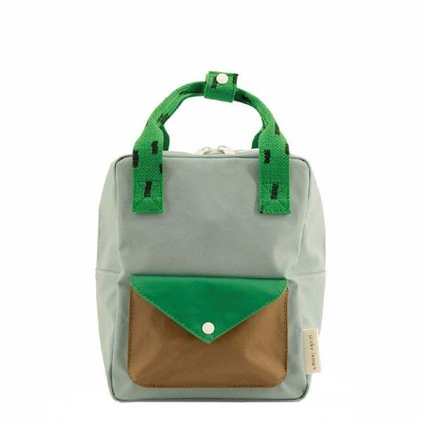 Sticky Lemon Sprinkles Envelope Backpack Small apple green steel blue brassy green Kindertas