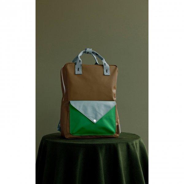 Sticky Lemon Sprinkles Envelope Backpack Small brassy green apple green steel blue Kindertas van Gerecycled