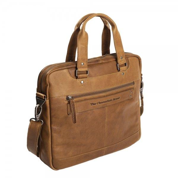 """The Chesterfield Brand Jovi Laptoptas 14"""" cognac"""