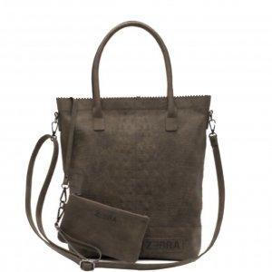 Zebra Trends Natural Bag Kartel XL Rits Croco army Damestas