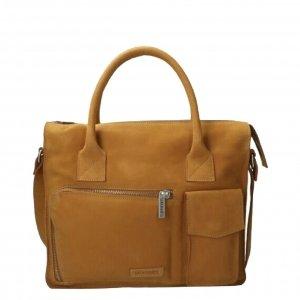 Fred de la Bretoniere Working Bag Waxed Grain Leather cognac Damestas