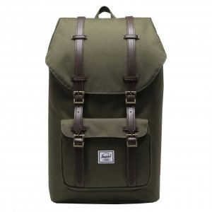 Herschel Supply Co. Little America Rugzak ivy green/chicory coffee straps Laptoprugzak