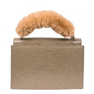 Inyati Olivia Top Handle Bag khaki croco Damestas