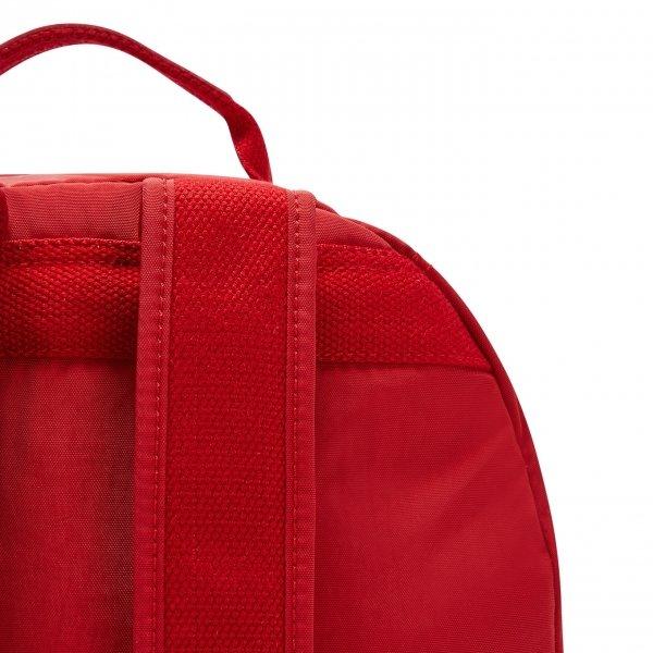 Kipling Seoul Rugzak cherry tonal backpack van Nylon