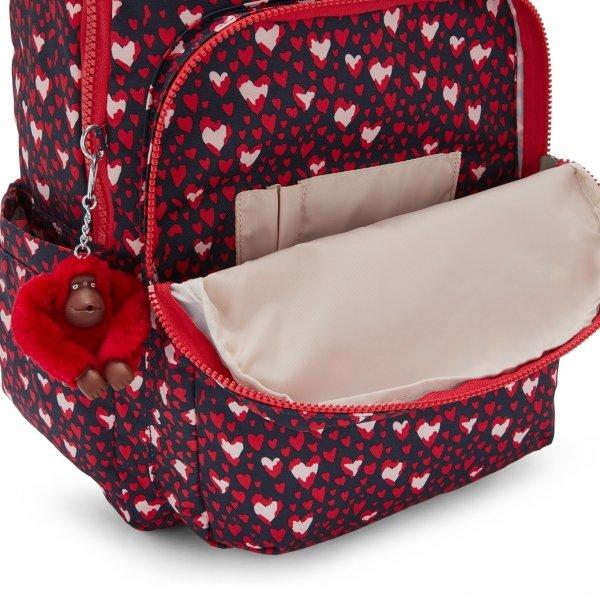 Kipling Seoul Rugzak heart festival backpack van Nylon